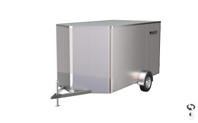 Custom Built Enclosed Aluminum Trailer